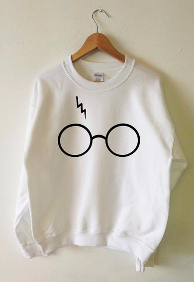 Blusa De Frio Moletom Harry Potter Óculos Cicatriz Unissex