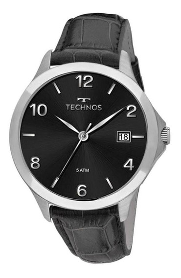 Relógio Technos Couro Masculino 1s13bz/0p