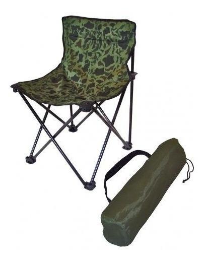 Cadeira Araguaia Camuflado Pesca Camping Dobravel Com Sacola