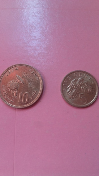 Monedas Singapur 10 Centavos 1974