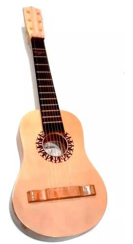 Imagen 1 de 7 de Guitarra Criolla De Madera Juguete Niños 50cm 6 Cuerdas