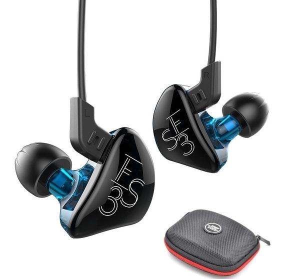Kz Es3 Dual Drive Fone In-ear Retorno De Palco/zst,se215,zs3