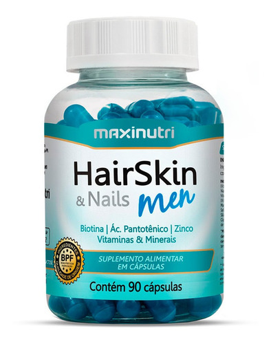 Hair Skin & Nails Men Com 90 Cápsulas - Maxinutri