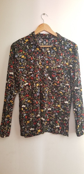 Camisa Mujer Floreada Zara Mangas Largas Ideal Primavera/ver