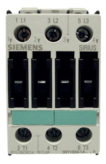 Contactor Siemens 12 Amp Ac-3 110v 3rt1024-1ag20