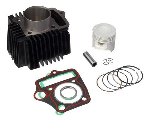 Imagem 1 de 5 de Kit Motor Cilindro Pistão Anéis Da Moto Honda Biz 100