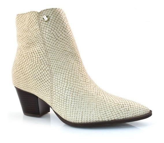 Ankle Boots De Couro E Salto Bloco Bottero