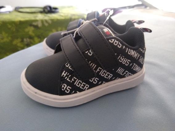 Zapatillas Tommy Hilfiger Kids Niño Nueva Talle 5 15cm Cuero
