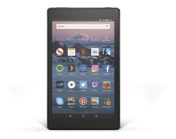 "Tablet Amazon Fire HD 8 2018 KFKAWI 8"" 32GB black com memória RAM 1.5GB"
