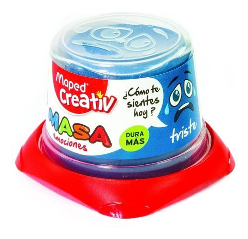 Imagen 1 de 3 de Masa Para Modelar Maped Creativ De 140 Grs Dough Azul