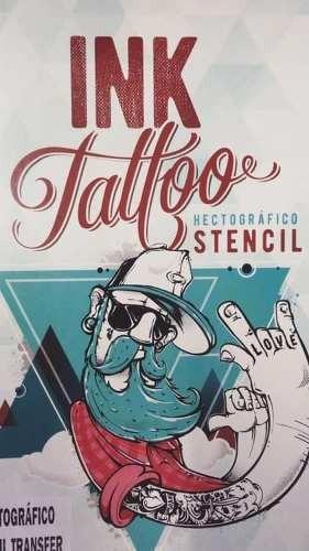Stencil Hectografico Roxo Ink Tattoo Cx/100 Fls Printers