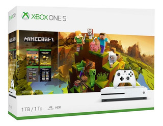 Consola Xbox One S 1tb 4k Ultra Hd Blanco Minecraft Creators