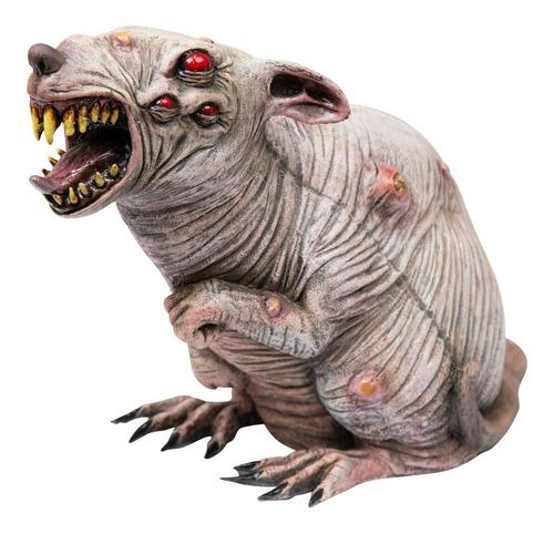 Imagen 1 de 1 de Decorativo De Látex Rata Radio Active Rat Halloween