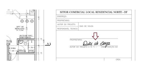 Assinatura/rubrica Digital Projetos E Documentos