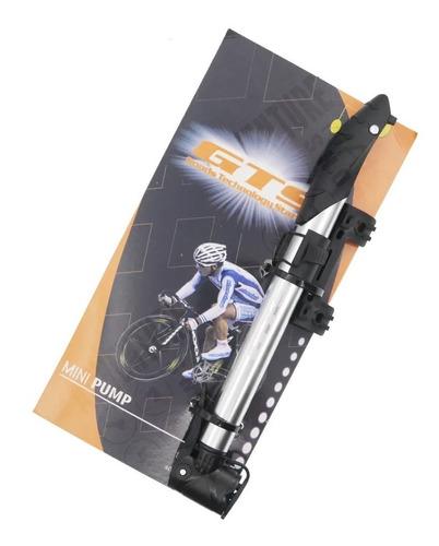 Mini Bomba Manual Telescópica Bicicleta Bico Fino E Grosso