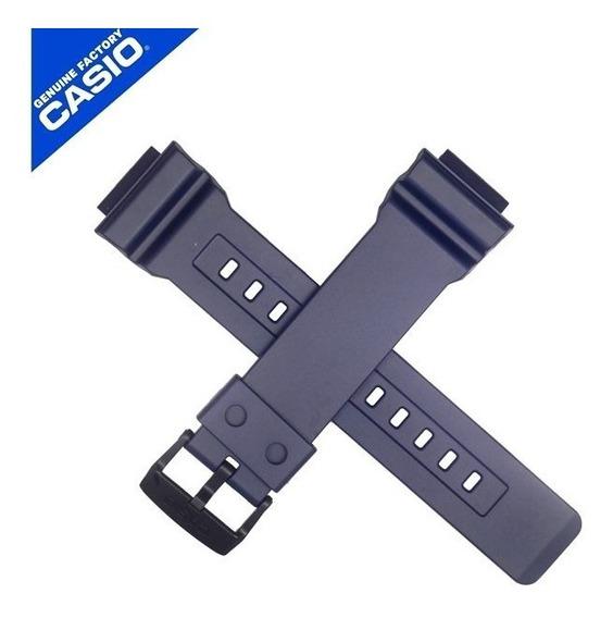 Pulseira Casio Resina Azul Ad-s800wh-2v - 100% Original