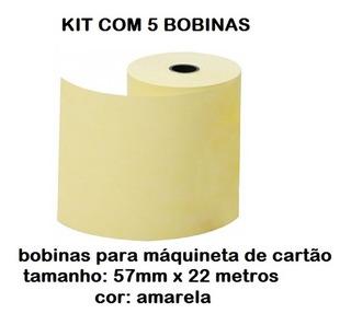 Kit 5 Bobinas Para Cartão De Crédito Cielo/rede # Em Até 3x