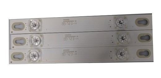 Kit 3 Barra De Led Tcl 43d2900 Semp-toshiba 43s4900fs 43hr330m08a5