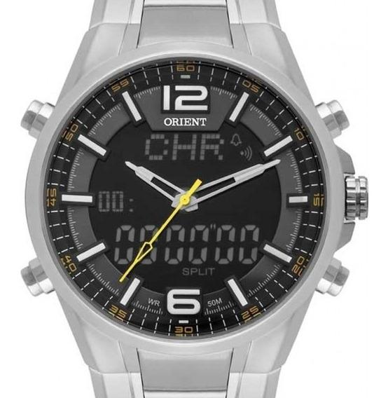 Relógio Orient Masculino Anadigi Prata - Mbssa048 P2sx