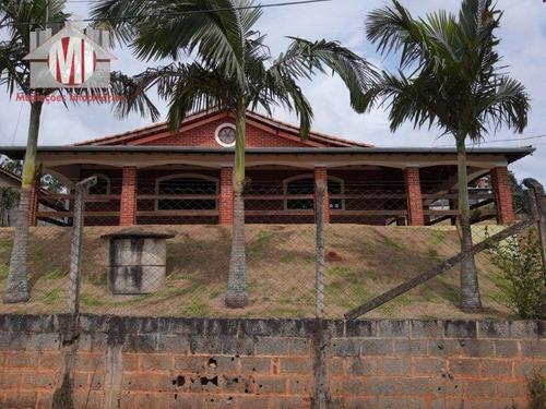 Imagem 1 de 30 de Linda Chácara Com 03 Dormitórios, Cômodos Amplos, Bem Localizada, Toda Gramada, À Venda, 1050 M² Por R$ 480.000 - Zona Rural - Pinhalzinho/sp - Ch0971