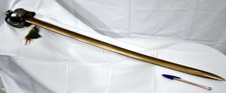 Espada Militar Antiga 1ª República Punho Alpaca Bainha Metal