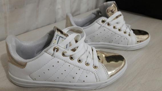 Tênis Logus Branco/dourado 36