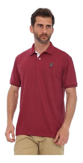 Camisa Polo New York Polo Club Slim Vinho