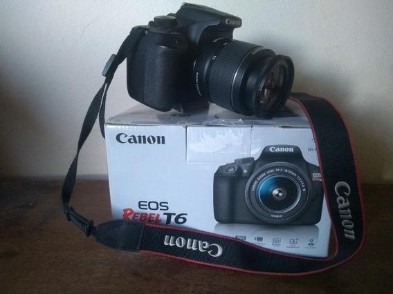 Câmera Canon T6 Completa 18-55mm Kit
