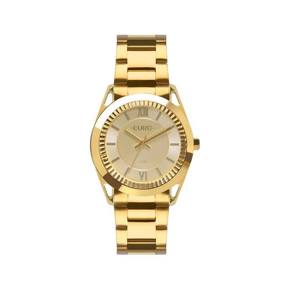 Relógio Euro Feminino Metal Frame Dourado Eu2035ypp/4d