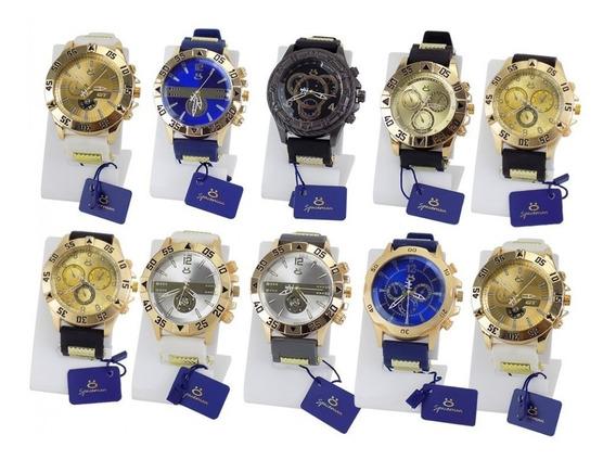 Kit C/ 10 Relógio Masculino Atacado + 10 Caixas+ Nf (k10sb)