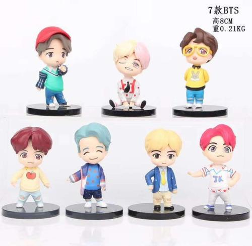 7pcs Pop Up Loja Casa De Bts Mini Figura