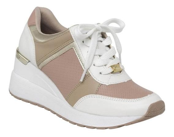 Tênis Feminino Sneaker Via Marte 19-12375 Branco / Rose