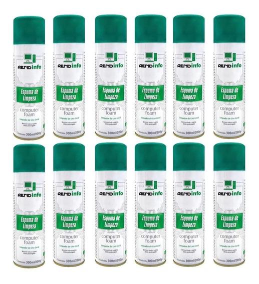 12 Espuma Limpeza Antiestática Rend Info Foam Spray 300ml