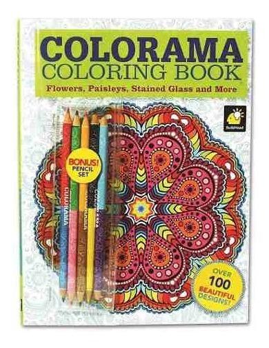 Livro De Colorir - Colorama - 100 Folhas Com 12 Cores De Lap