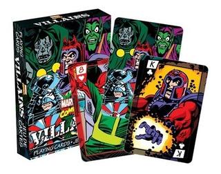 2 Set De Naipe O Cartas Ingles De Villanos De Marvel Comics
