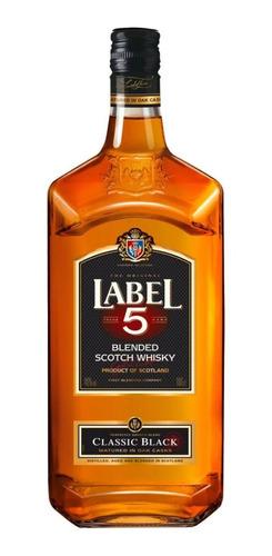 Imagen 1 de 1 de Botella De Whisky Blended Scotch Label 5 1l