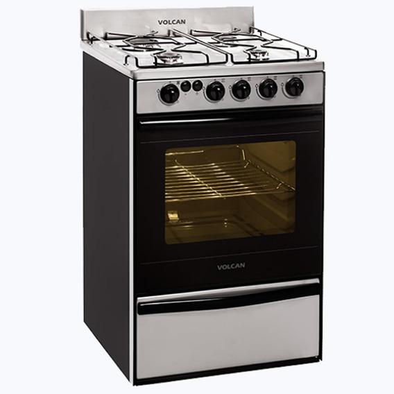Cocina Multigas Volcan 89673vm Acero Inox 55cm En Cuotas