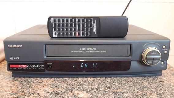 Videocassete Vhs Sharp 4 Cabeças, Em Impecável Estado