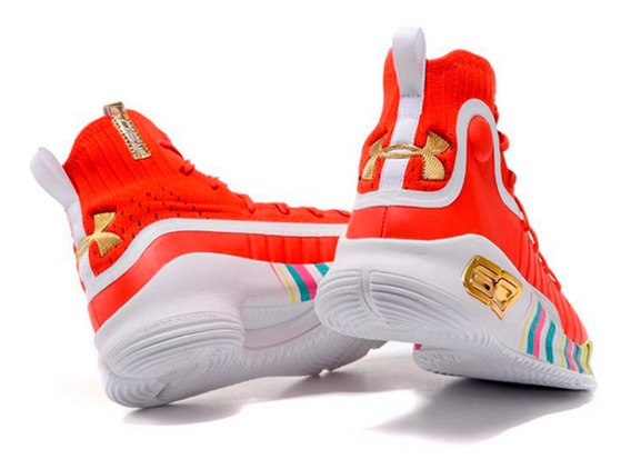 Zapatillas Basket Under Armour Curry 4 Multicolor + Obsequio