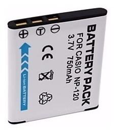 Bateria Casio Np-120 Ex-s200 Ex-zs10 Ex-z680 Tz20