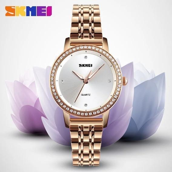Relógio Feminino De Luxo Skmei - Original A Prova D