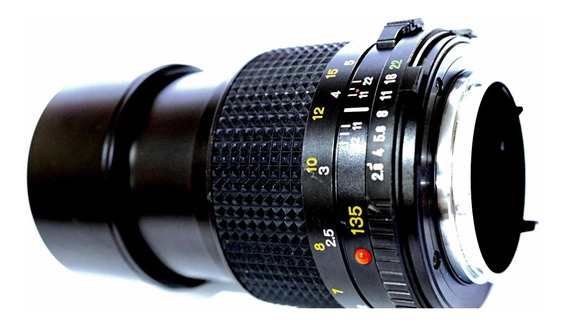 Lente Minolta Md 135mm .f2.8 Impecáv .com Adaptador .p/ Sony