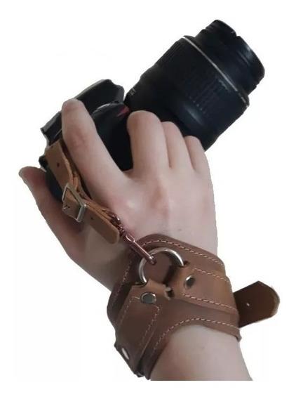 Alça De Mão Para Câmera Couro Legítimo Hand Strap Grip