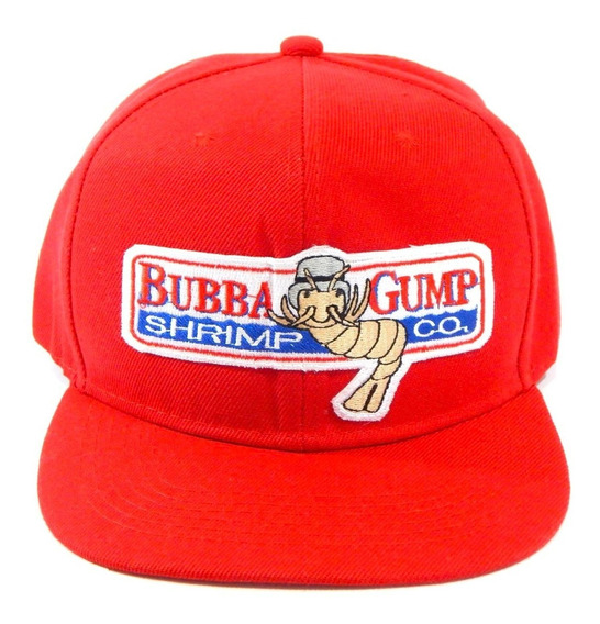 Forrest Gump Gorra Bordada Roja Bubba Shrimp Company Snapbac