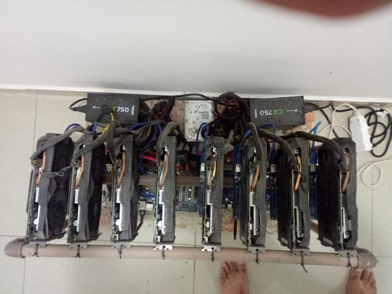 Rig Mineração, 8 Gtx1060 3gb
