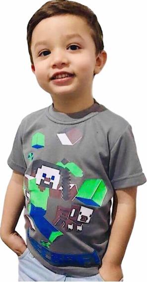Kit 10 Camiseta Infantil Personagens + Chaveiro Super Heróis