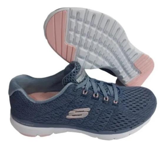 Tênis Feminino Skechers 13064 Academia Corrida E Caminhada