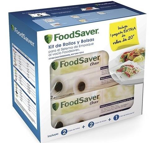 Kit Foodsaver 3 Rollos 2 Cajas De Bolsas Original