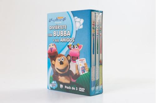 Imagen 1 de 2 de Pack 3 Dvds Bubba Descubriendo Juegoteando Didacticos