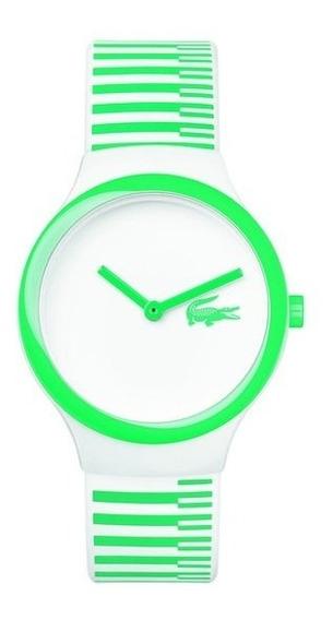 Reloj Lacoste Con Estampado Blanco Y Verde
